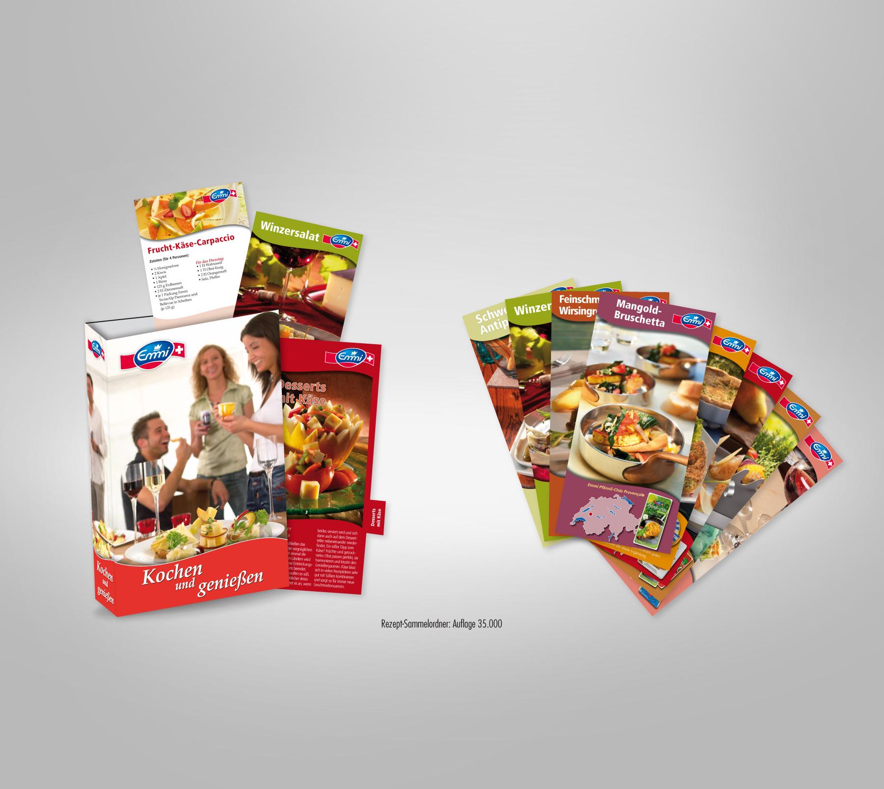 Emmi Produktförderung: Sammel-Ringordner mit Register und Rezeptkarten zum abheften