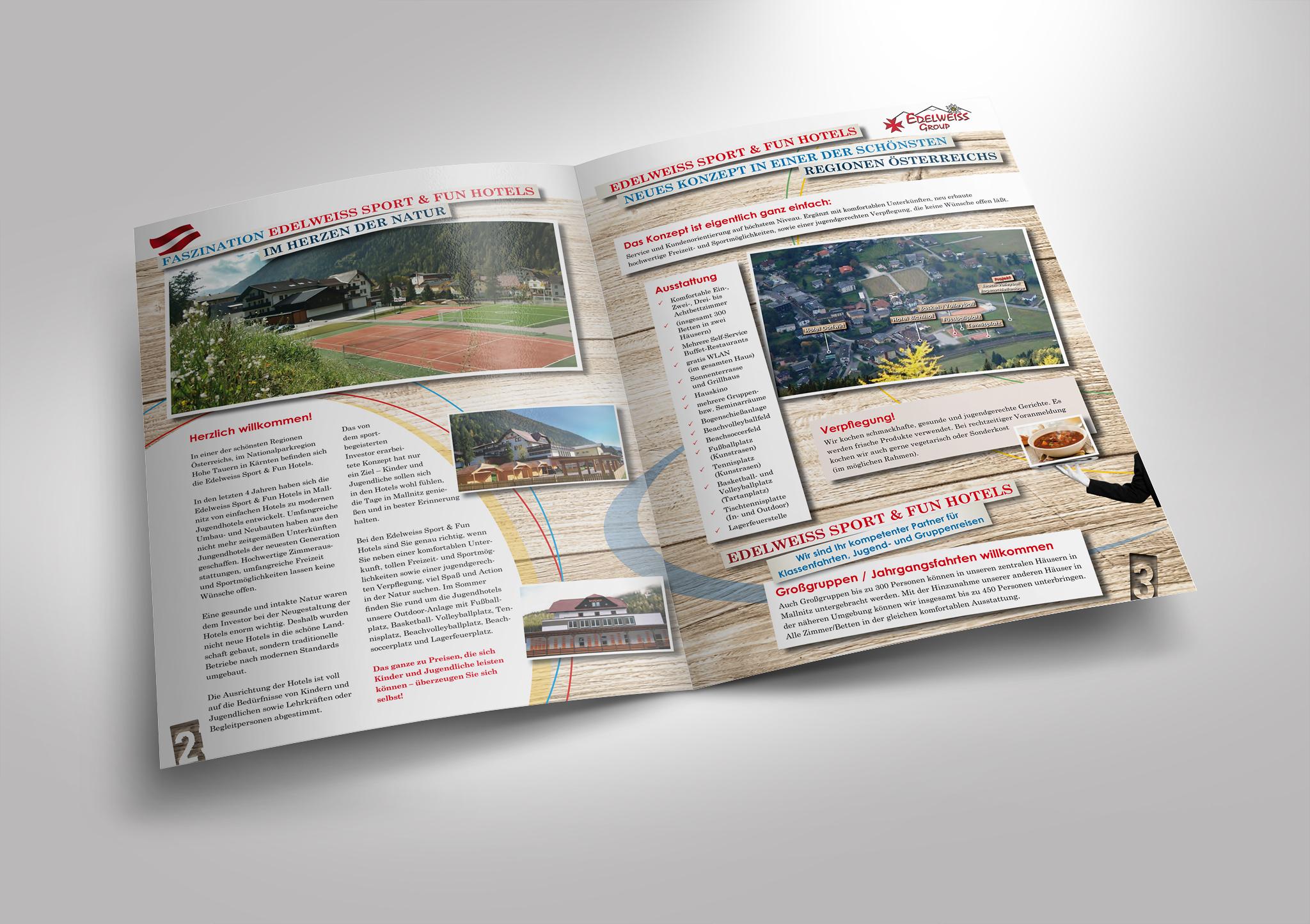 Imagebroschüre mit Katalogcharakter